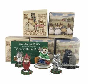 Wee Forest Folk 1987 A Christmas Carol Miniature Figurines Lot Of 5 Signed Mini