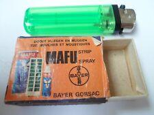 Ancienne boite allumettes vide - BAYER GORSAC - MAFU Tue mouches - BELGIUM