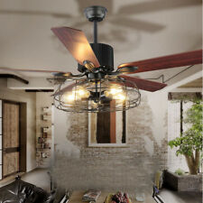 Black wrought iron ceiling fans ebay vintage ceiling fan with light kit aged iron outdoor indoor flush mount aloadofball Gallery