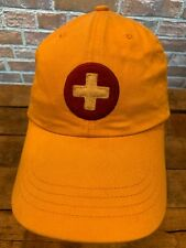 AE Performance Yellow Red White Cross Adjustable Baseball Adult Cap Hat