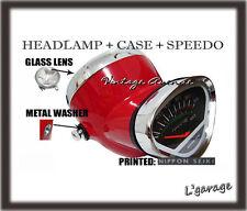 *HONDA DAX ST50 ST70 CT50 K0 CT70 K0 HEAD LIGHT + SPEEDOMETER + CASE *RED [V]