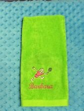 Embroidered / Personalized Tennis Towel - 16x28 - FREE shipping