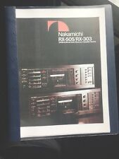 Nakamichi RX-505 Brochure , Owners And Service Manuals ~ULTRA RARE~ LOOK !
