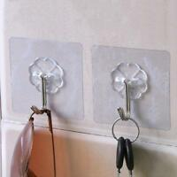 2x Removable Bathroom Kitchen Wall Strong Suction Cup Hook Hanger Vacuum Sucker~