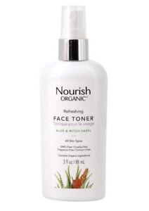 Nourish Organic Face Toner - Refreshing - Aloe & Witch Hazel | 3 oz 88ml.