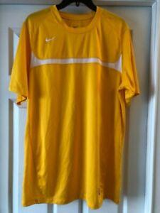 Team Nike Dri-Fit Men's Size L Yellow White EUC LONG Polyester Tennis Run