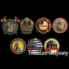 Firefighter Challenge Coin Lot Fire Dept Hero Gift Collectible Decor