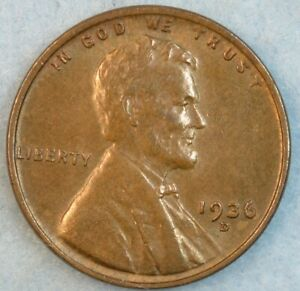 1936 D Lincoln Wheat Cent DENVER MINT UNCIRCULATED UNC FAST S&H 34020