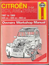 Citroen 2CV, Ami & Dyane Haynes Owners Workshop Manual 1967-1988 425 435 & 602cc