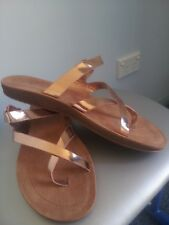 NEW FOREVER ROSE GOLD SANDALS SHOES SIZE 9  / 40   COMBINED POST $12