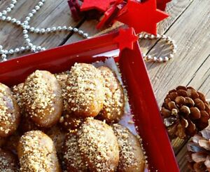 Honey Bites (Melomakarona) - Delicious Traditional Greek Sweet with Walnuts! 🤤