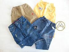 USATO Set Pantaloni 18 24 Mesi Bambino Jeans Giallo Beige 1 Anno Mezzo 2 Anni