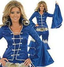Dancing Queen Blue Top Trousers Belt Party Fancy Dress Halloween Small New Fun
