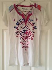AMERICAN FIGHTER by Femme AFFLICTION Arlington T-Shirt Blanc Taille M Bnwt