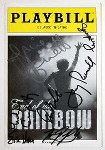 END OF THE RAINBOW Full Cast Tracie Bennett Signed Opening Night Playbill