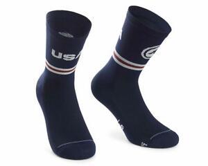 Assos USA Cycling Socks (Blue)