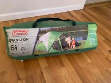 New listing Coleman Dome Tent with Screen Room Evanston Camping Tent with Screened-In Porch
