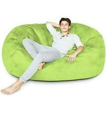 BIG FRANK Living room Home decor Furniture LIGHT GREEN 6 ft Bean bag:COVER ONLY!