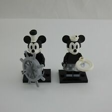 2 LEGO Disney Minifigures Mickey & Minnie Series 2 Black White Steamboat Willie