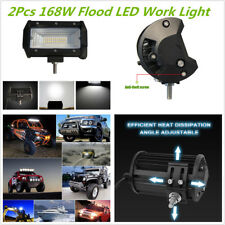 "Waterproof Pair 5"" 168W Flood LED Work Light Bar Car Off-Road Fog Driving Light"