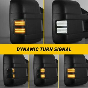 2*LED Switchback White/Amber Flowing Side Mirror Lights for 08-16 Ford F250 F350