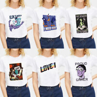Women Funny Letters T-shirt Tops Short Sleeve Summer Casual Blouse Tops Tee Gift