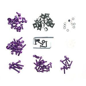 Purple Racing Fairing Bolt Kit Body Fasteners Clip Screws Motorcycle YZF CBR FZ