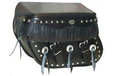 Harley Davidson Heritage Softail Saddle Bag Craft Fringe Black