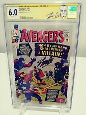 AVENGERS #15 CGC 6.0 SS Signed by STAN LEE Silver Age 1965