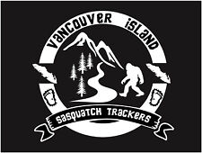 SASQUATCH TRACKERS-VANCOUVER ISLAND DECAL/STICKER 4""