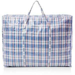 Large Laundry Bags Extra Strong and Durable Shopping Reusable Storage Zip - UK