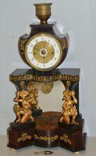 ANTICO OROLOGIO PENDOLO TEMPIO 1800 IMPERO CARIATIDE OLD TABLE PENDULUM CLOCK