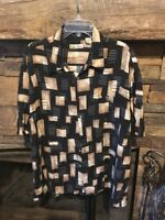 Hollis River Size XXL Aloha Shirt Men's Casual 100% Rayon Short Sleeve Black Brn