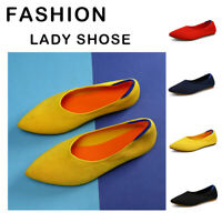 Women Fashion Flats Breathable Loafers Slip on Casual Dress Shoes Pointed Toe