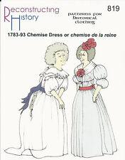 Schnittmuster RH 819: 1780s Chemise Dress