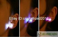 Light Up Led Diamond Style Fashion Earring Studs 10 color RAVE  1 Pair 10Pair