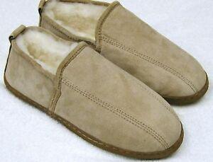 Men Sheepskin Shearling Dress Bootie Shoe Slipper Moc Medium (D,M)