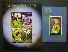 ST. VINCENT 2005 Fleischfressende Pflanzen Carnivorous Plants 6165-68 + Bl.650