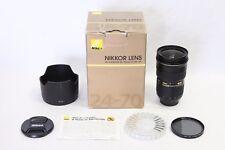 Nikon AF-S 24-70mm f/2.8G ED Lens EX+ IN BOX Tiffen CPL Filter Nikkor 2.8 G 28 N