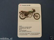 8-MOTOREN 7B YAMAHA XS500 KWARTET KAART MOTORCYCLES, QUARTETT,SPIELKARTE