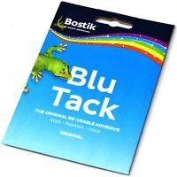 12 PACKS x BOSTIK BLU TACK HANDY REUSABLE ORIGINAL BLUE STICKY ADHESIVE ECONOMY