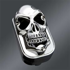 feu Phare arriere tete de mort  chrome moto bobber chopper skull taillight cover