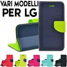 Custodia per LG cover tpu portafoglio libro con chiusura magnetica porta tessere