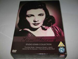 GENE TIERNEY STUDIO STARS COLLECTION - 5 FILM DVD SET  Laura  Thunder Birds etc