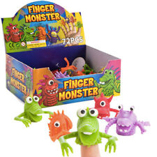 12 Novelty Finger Puppets Fright Monsters Party Bag Stocking Filler Toys