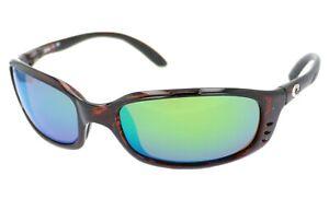 Costa Del Mar Brine Men's Tortoise Polarized Green Mirror Sunglasses BR10OGMP