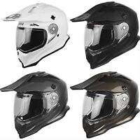 Just1 J14 Solid Carbon Adventure Dual Sport Street Helmet Troy Lee Shoei