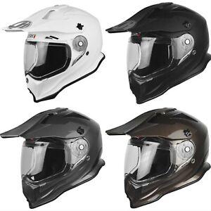 Just1 J14 Solid Carbon Adventure Dual Sport Street Helmet Troy Lee Shoei