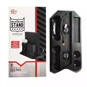 Multifunctional Pro Vertical stand & Cooling Fan for PS4 Pro Playstation 4 Pro