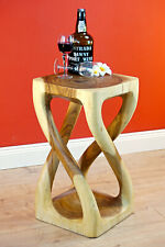 Side Table Plant Stand Acacia Wood Flower Stand Solid Wood Night Table Natural